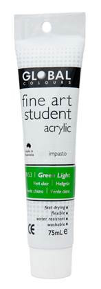 Global fine art student acrylic 75ml - Green Light