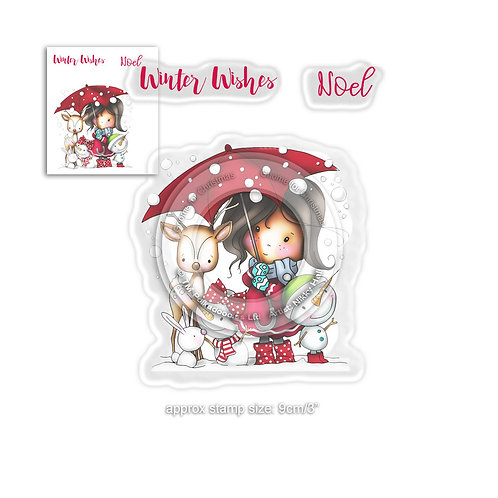 Polkadoodles® Winnie Winter Wishes Stamp Set