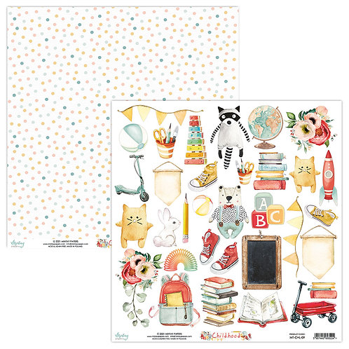 Childhood 12 x 12 Elements Paper by Mintay Papers