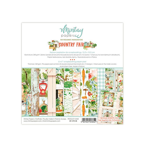 Country Fair 6 x 6 Paper Collection by Mintay Papers