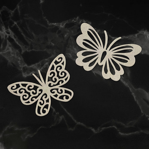 Couture Creations Chipboard - Dual Butterflies