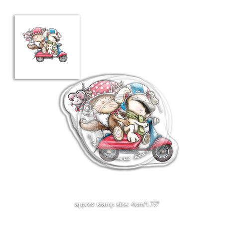 Polkadoodles® Horace & Boo Scooting Along Stamp