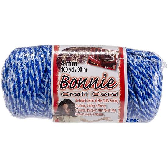Pepperell-Bonnie Macrame Neon Craft Cord - Blueberry