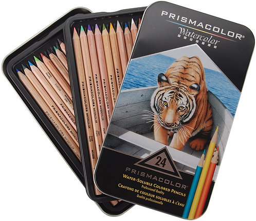 Prismacolor Premier Water Soluble Set of 24 Colored Pencils