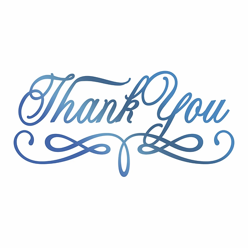 Couture Creations®Hotfoil Stamp - Thank You