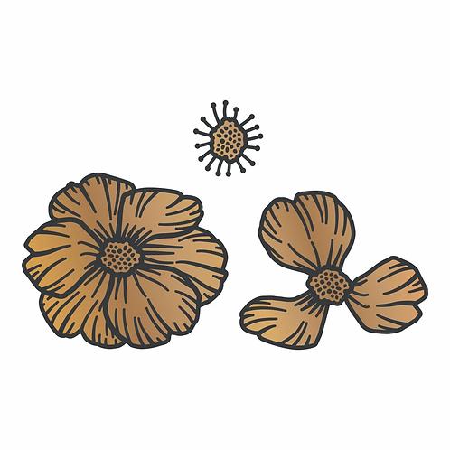 Cut and Create Die Set - Vintage Flowers - Layered Camelia