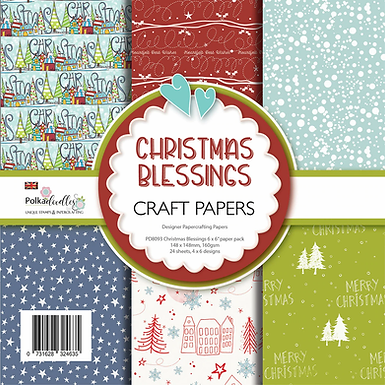 Christmas Blessings Paper Pack 6 x 6""