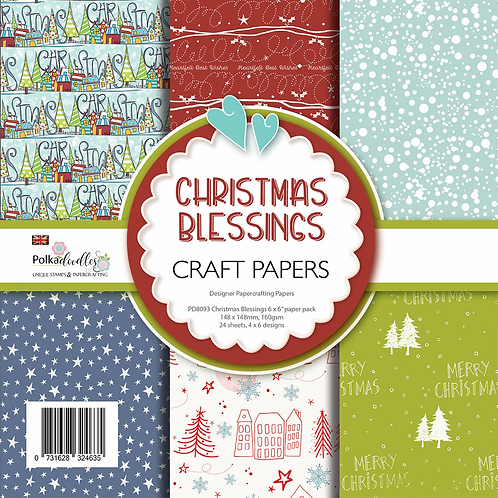 """Christmas Blessings Paper Pack 6 x 6"""""""