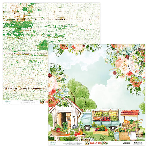 Country Fair - 03 - 12 x 12  -  Paper by Mintay Papers
