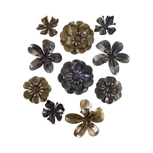 Finnabair Mechanicals Metal Embellishments - Metal Blooms