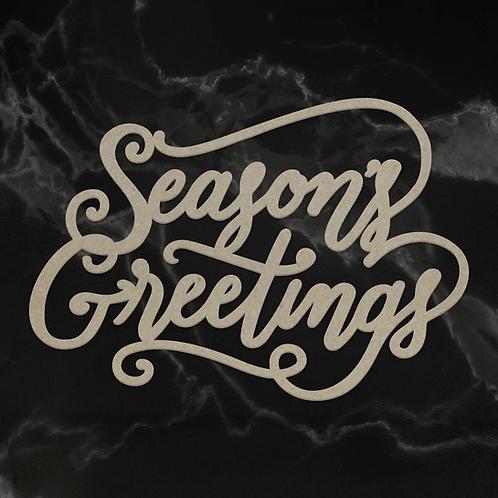 Chipboard - Naughty or Nice - Seasons Greetings Sentiment (1pc)
