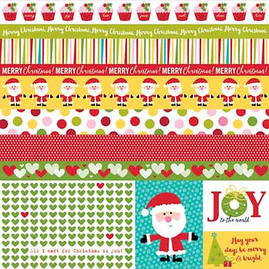 Bella Blvd® Make it Merry Borders & Bits Sheet 12 x 12