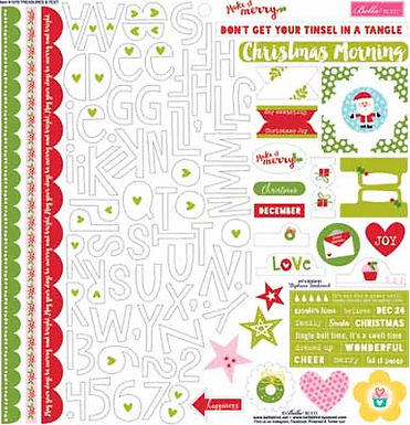 Bella Blvd Treasure and Text Sheet Stickers 12 x 12