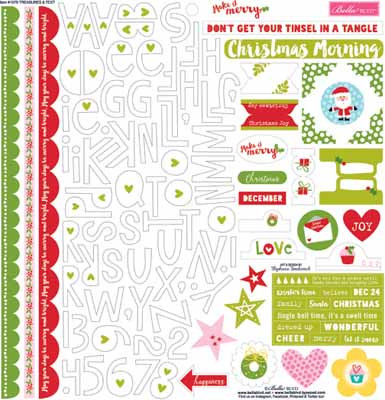 Bella Blvd Treasure and Text Sheet Stickers 12 x 12