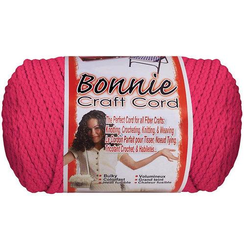 Pepperell-Bonnie Macrame Neon Craft Cord - Azalea Pink