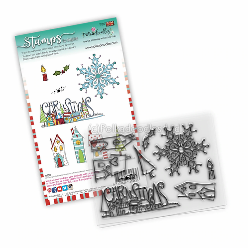 Christmas Scenes clear Stamp set by Polkadoodles®