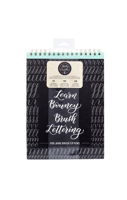 Learn Bouncy Brush Lettering Workbook - For Large Tipped Pens