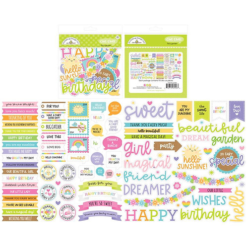 Doodlebug Odds and Ends Chit Chat Die Cuts  - Fairy Garden