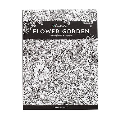 Creative Zen Coloring Book - Flower Garden