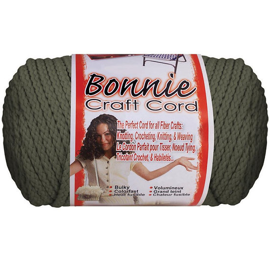 Pepperell-Bonnie Macrame Neon Craft Cord - Smoke Grey