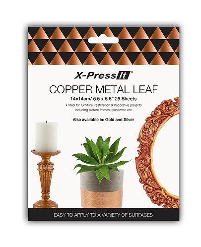 X-Press It Copper Metal Leaf 140x140 25sh/bk
