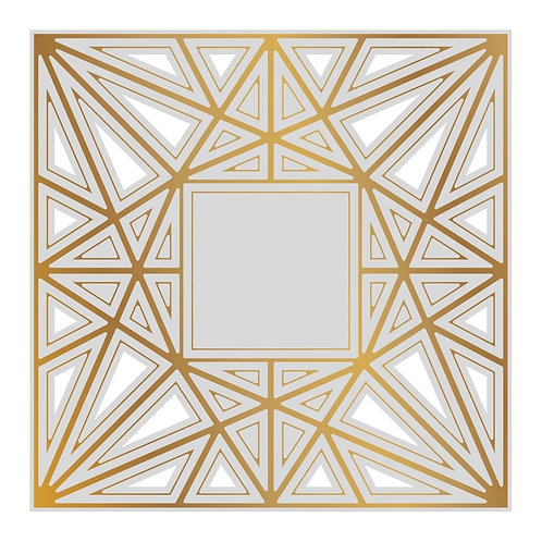 Cut, Foil and Emboss Die - Gentleman Crafter - Faceted Frame Background