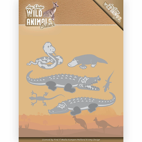 Wild Animals Outback by Amy Design Crocodile Die Set