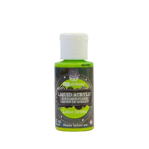 Art Alchemy – Liquid Acrylics – Lime Green –  30ml