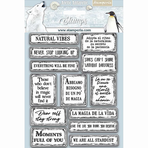 Stamperia® High Definition Stamp - Quotes