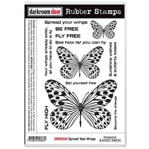 Darkroom Door® Rubber Stamp Set - Spread Your Wings