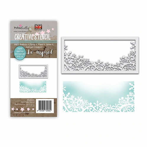 Snowflake Flurry Layering Stencil by Polkadoodles®