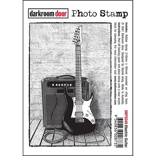 Darkroom Door Photo Stamp - Electric Guitar
