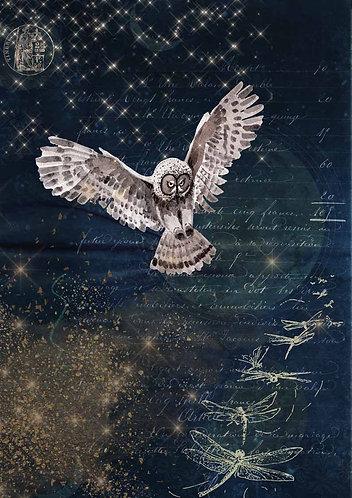 Decoupage Queen® Decoupage Paper - Karin's Night Owl