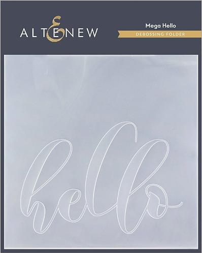 Mega Hello Debossing Folder by Altenew®