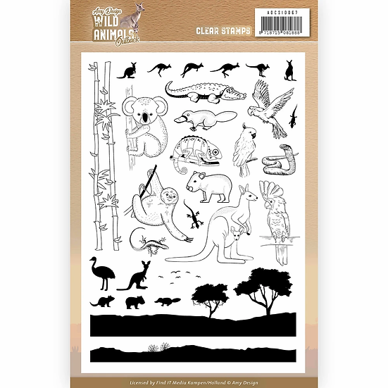 Wild Animals Outback by Amy Design Clear Stamp Set