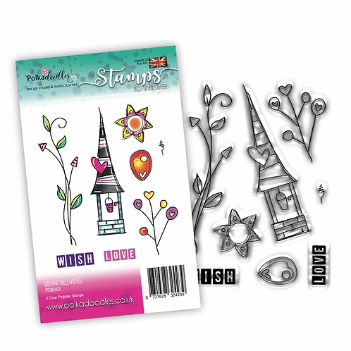 Wishing Well Wishes Stamp Set by Polkadoodles®