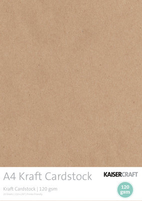 Kaisercraft® A4 Kraft Cardstock pack
