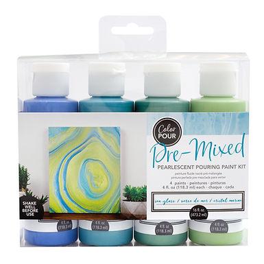 American Crafts Color Pour Kit - Sea Glass
