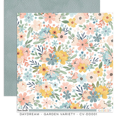 Cocoa Vanilla® Daydream - 12 x 12 Paper - Garden Variety