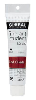 Global fine art student acrylic 75ml - Red Oxide