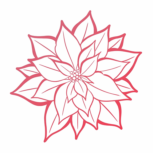 Mini Stamp - The Gift of Giving - Poinsettia Bloom