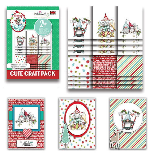Polkadoodles® Gnome Together Christmas Topper Pack