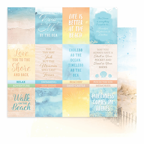 Couture Creations - Seaside Girl - Sheet 6 - 12 x12 Double Sided - 200gsm