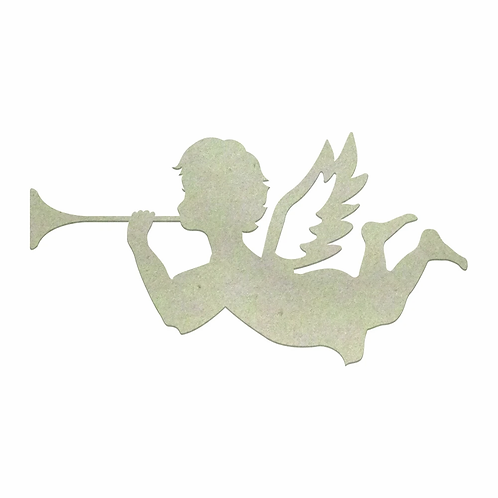 Chipboard - Christmas - Trumpeting Angel