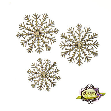 2Crafty Chipboard - Multi Fine Snowflakes