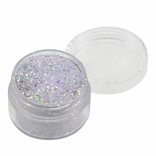 Emboss Powder - Pastels - Pastel Lilac With Holographic Silver Glitters
