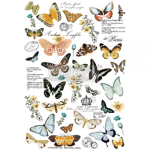 Redesign Decor Transfers® – Butterfly Dance – total sheet size 24″x35″