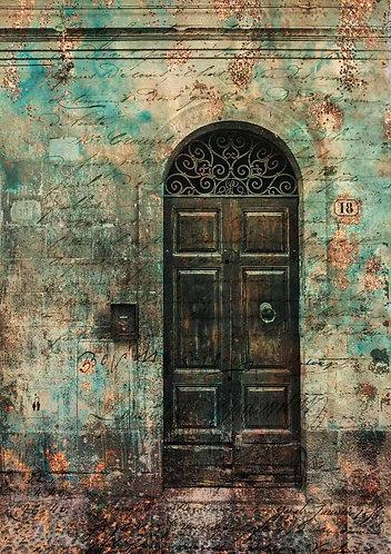 Decoupage Queen® Decoupage Paper - Antique Door with Scrollwork II