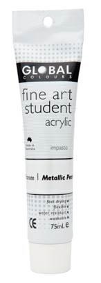 Global fine art student acrylic 75ml - Metallic Pearl