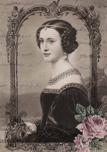Decoupage Queen® Decoupage Paper - Lady of the Castle